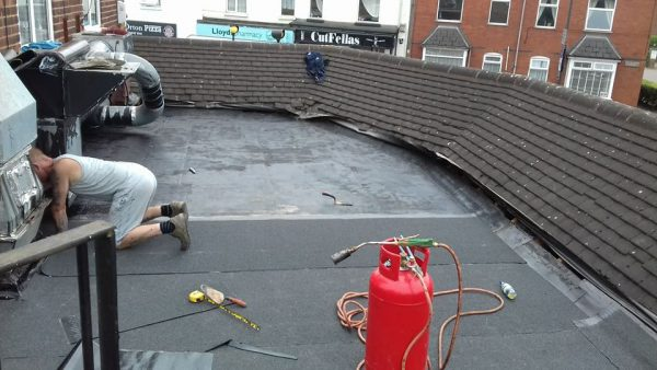 Commercial Flat Roof Stripping & Replacement 3 Layer Felt System